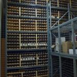Wine club bottle racks