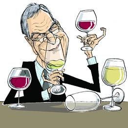 wine writer cartoon