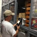 Customer pulling wine