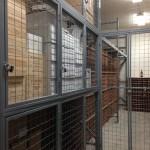 Case storage and bottle racked locker